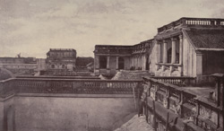 View of part of the Rajah's Palace at Poodoocottah. [Pudukkottai.]